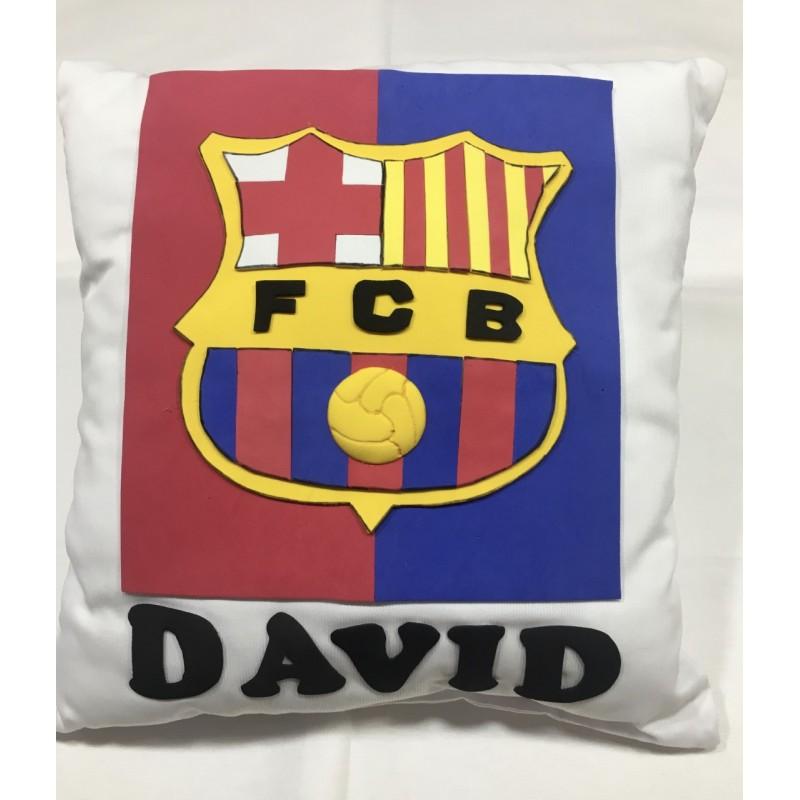 Cojín Guardapijamas F.C. Barcelona Personalizado David