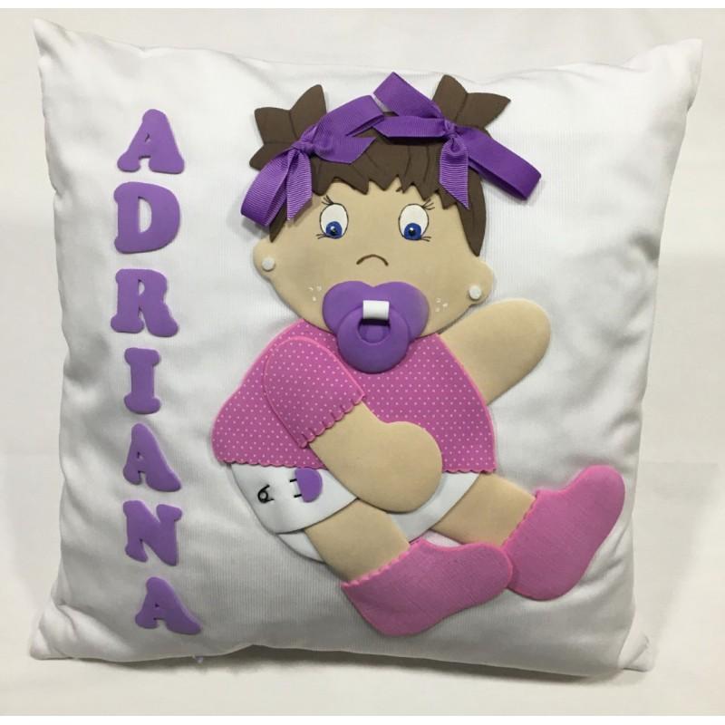 Cojín Guardapijamas Bebe Rosa Personalizado Adriana