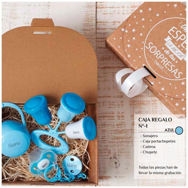 Caja Regalo N.1 Personalizada - Azul