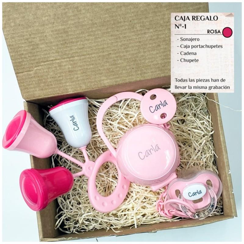 Caja Regalo N.1 Personalizada - Rosa